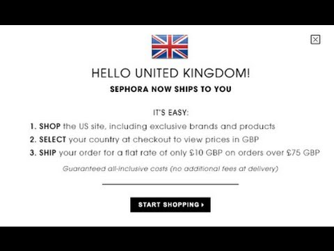 Sephora UK Shipping Info & Exclusions