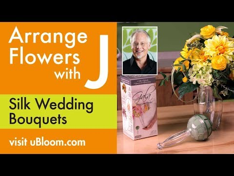 How to Make a Silk Flower Wedding Bouquet!