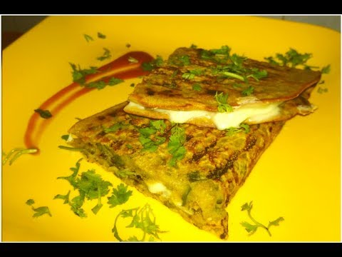 Grilled Spinach Cheese Cheela/A Perfect Breakfast Recipe By Teju's KiTcHeN
