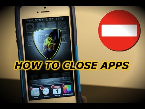 How To Close Apps iPhone 5, 4s, 4, 3Gs iOS 6 and Above