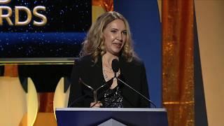 Jim Jefferies presents the 2018 WGA Award for Original Long Form to Flint writer Barbara Stepansky