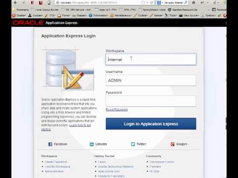 Create Web Services with Oracle Application Express 4.2
