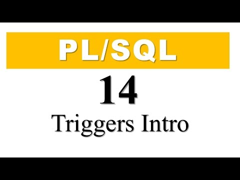 PL/SQL tutorial 14 : Introduction of PL/SQL Triggers in Oracle Database By Manish sharma