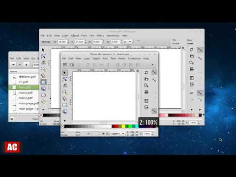 Get Position in PDF Page using Inkscape on Linux Mint Cinnamon