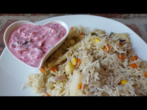 Easy Veg Pulav in Electric Rice Cooker/ Pressure Cooker