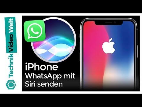iPhone WhatsApp mit Siri senden