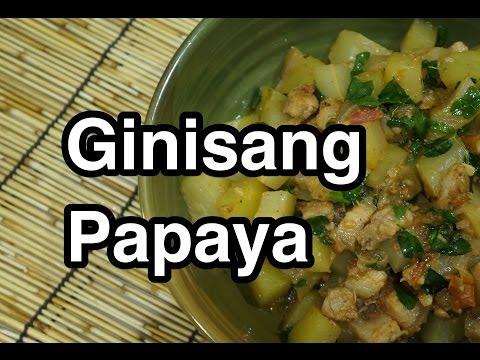 ★★ Paano magluto Ginisang Papaya Recipe - Pinoy Filipino Tagalog