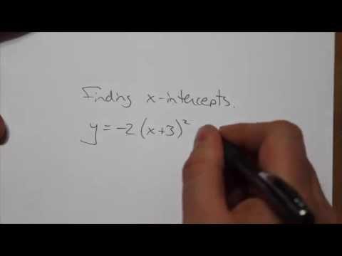 Finding x-intercepts (Vertex Form)