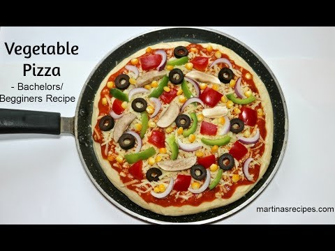 Instant Pan Pizza with Ready made Base | Homemade Domino's Veg Pizza | Veg Pizza