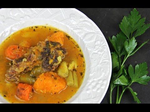 Caribbean Beef, Sweet Potato And Pumpkin Soup.