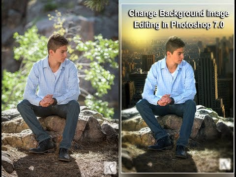how to change background image editing in photoshop 7 0