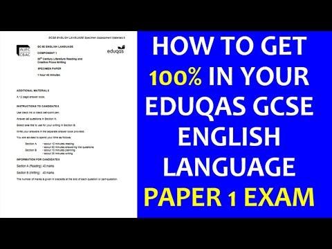 EDUQAS GCSE English Language ALL QUESTIONS Paper 1 Video (Pat & Bruce)