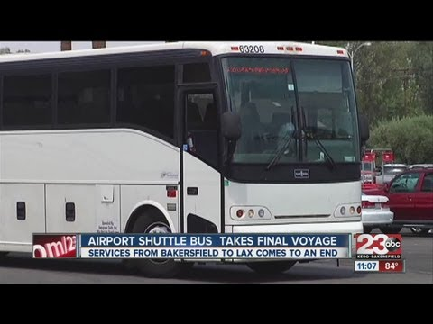 Airport Shuttle Bus Takes Last Trip To LAX