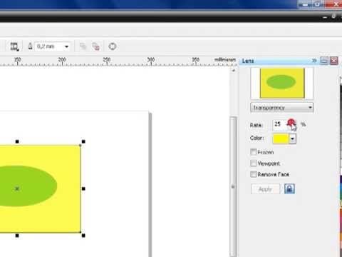 How to make an object transparent in corel draw
