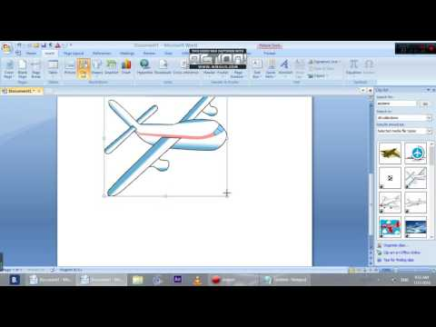 How to insert a clip art in microsoft word