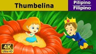 Thumbelina - kwentong pambata tagalog - Mga Karikatura - 4K UHD - Filipino Fairy Tales HD