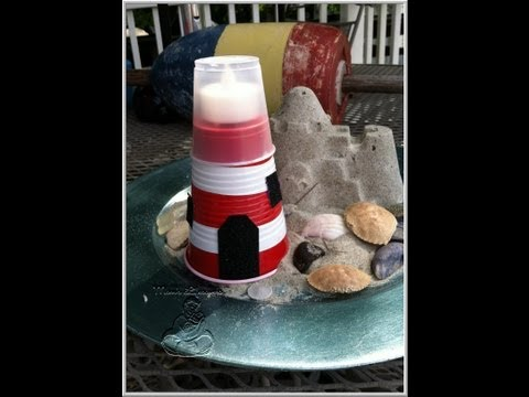 Make your own party cup lighthouse with Mom's Lifesavers