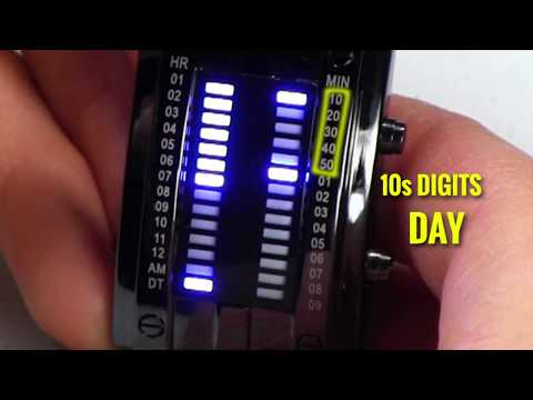 Binary LED Watch - How to Read and Set Time and Date easy instructions