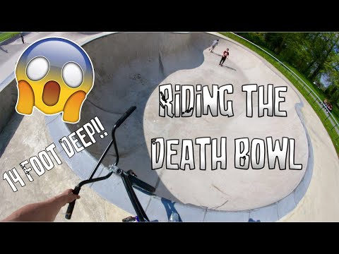 "RIDING THE FAMOUS ""DEATH BOWL"""