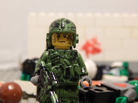 Custom Painted Lego Modern Paratrooper