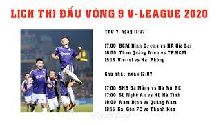 Bảng xếp hạng V-League 2020 | Lịch thi đấu vòng 9 V-League 2020 | Thuật Thể Thao