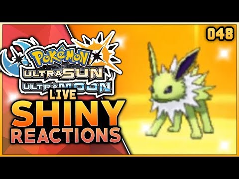 LIVE SHINY JOLTEON REACTION! Pokemon Ultra Sun & Ultra Moon Shiny Reaction!