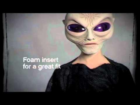Gray Alien Spaceman Halloween Mask & Costume