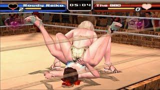 PCSX2 PS2 Rumble Roses Normal Match(Rowdy Reiko) Game Play - 플스2 럼블 로즈 일반 매치 게임 플레이