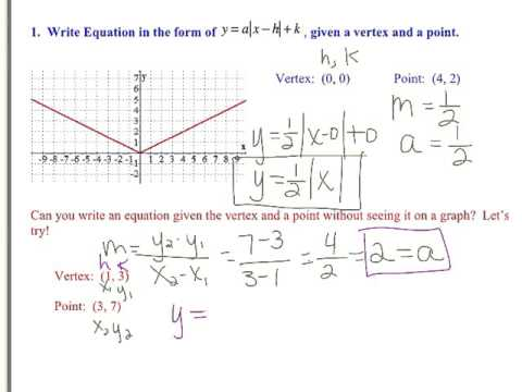 Writing Absolute Value Equations & Inequalities