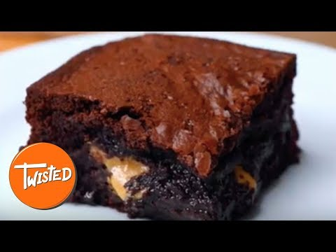 Homemade Peanut Butter Stuffed Brownies | Twisted