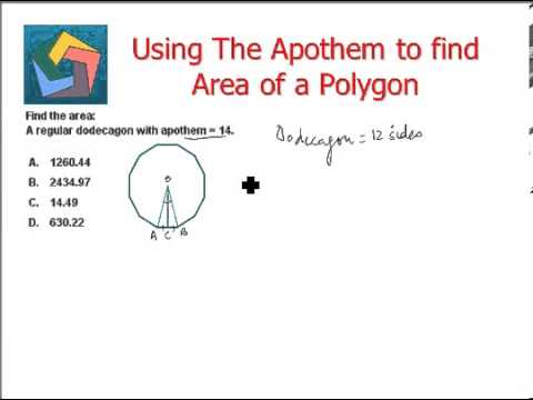 Using The Apothem to find Area of a Polygon