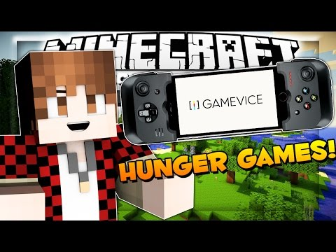 Pocket Edition HUNGER GAMES! Minecraft PE & Gamevice!