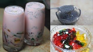Basil Seeds or Tukh Malanga Drink Recipe - Benefits of Basil Seeds - Easy Healthy Recipe