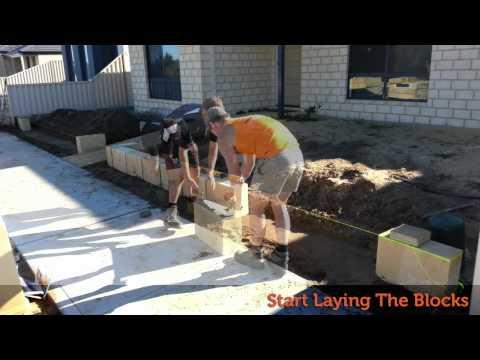 How to lay limestone blocks