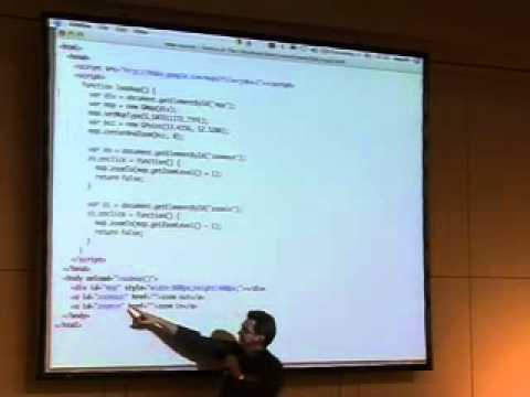22C3: Learning JavaScript with the Google Maps API