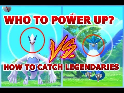 Who to power up LUGIA or ARTICUNO | How to Catch Legendary Birds Pokemon GO | MAX LUGIA & ARTICUNO