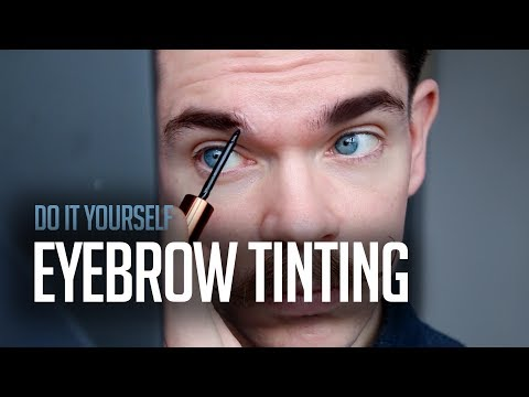 DIY Eyebrow Tinting | Testing Maybelline Tattoo Brow On Men's Eyebrows