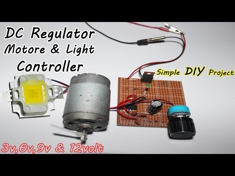 How To Make DC Regulator/Controller | DC Voltage Control Tutorial | Control (1v to 24 Volt) NE555 IC