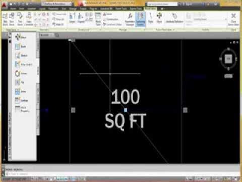 AutoCAD Dynamic Square Foot Block