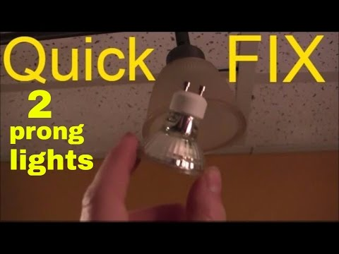 how to change a 2 prong light