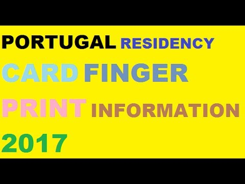 Portugal Residency Card Finger Print  information 2017 ||