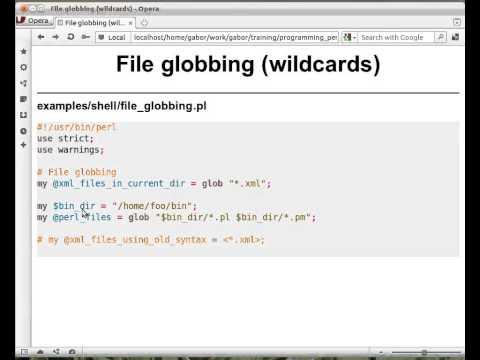Beginner Perl Maven tutorial: 11.4 - file globbing