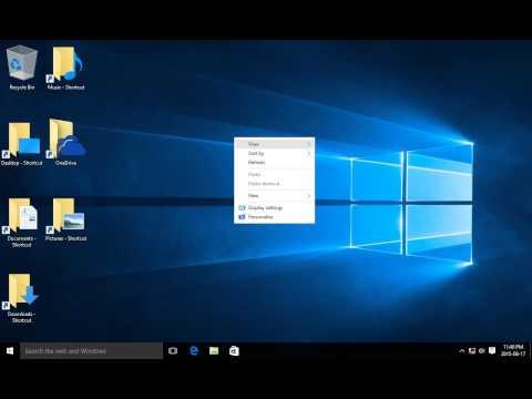 Windows 10 - Show Desktop Icons, Hide Desktop Icons, Restore Desktop Icons