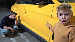 Someone keyed our Lamborghini...
