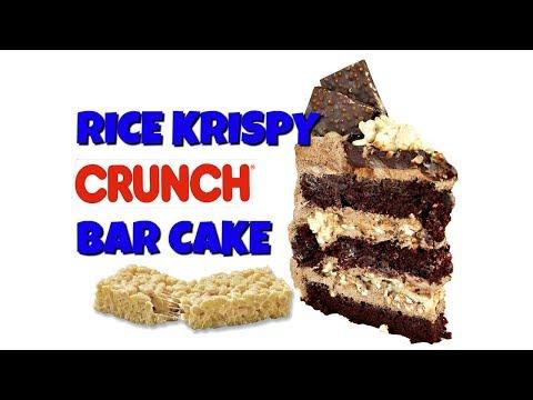 Rice Krispy Crunch Bar Cake || Gretchen's Vegan Bakery