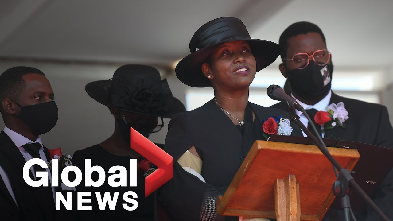 """""""He stole my heart:"""" Wife of slain Haiti president Moïse pays tribute to husband at funeral"""