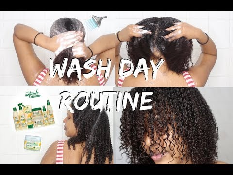 My Wash Day Routine (start to finish) Curly Natural Hair ➟ Moisturize Dry Hair & Retain Length!