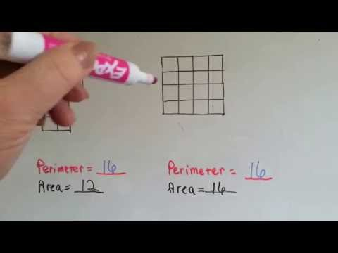 Grade 3 Math #11.9, Same Perimeter Different Area