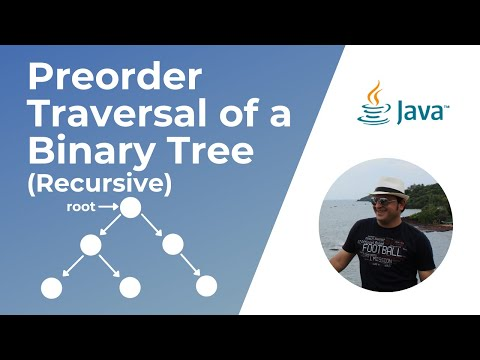 Recursive Pre-Order traversal of a Binary Tree in Java