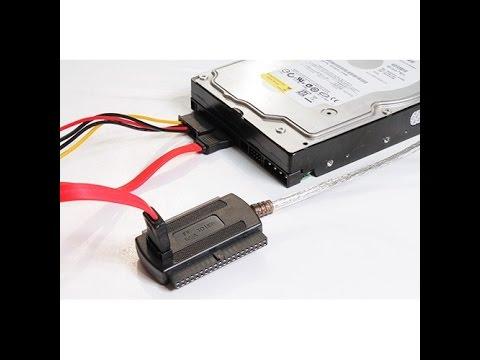 Unboxing External SATA IDE Hard Drive USB Reader Cable Kit